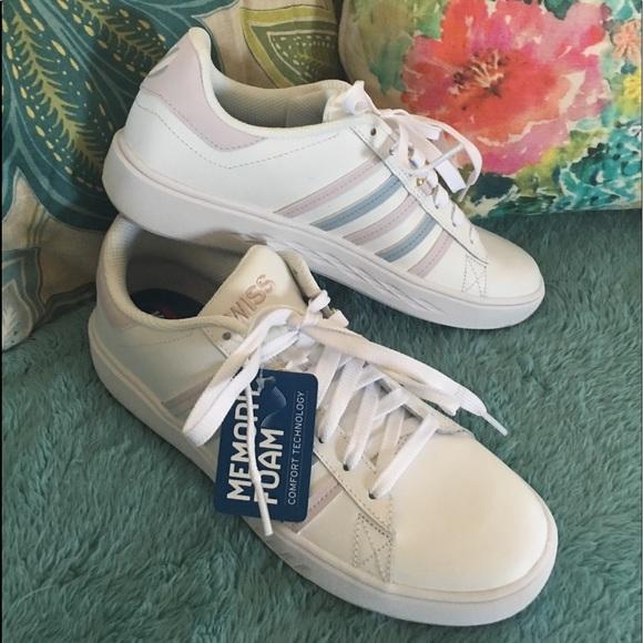 c056db1b96db8 🆕K-Swiss leather Pershing Court CMF tennis shoes NWT